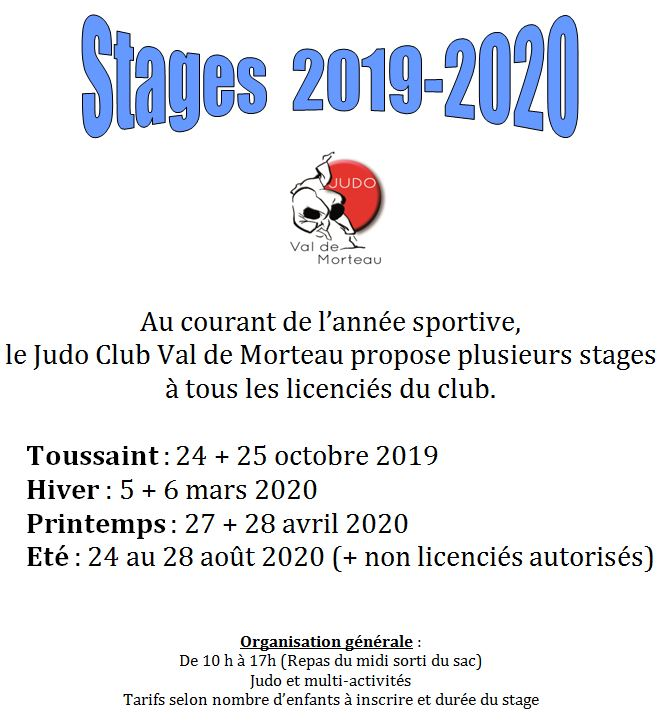 Stages 2019 2020