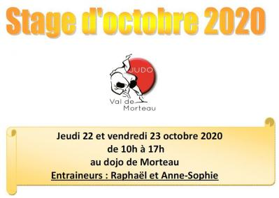 Stage octobre 2020 2021
